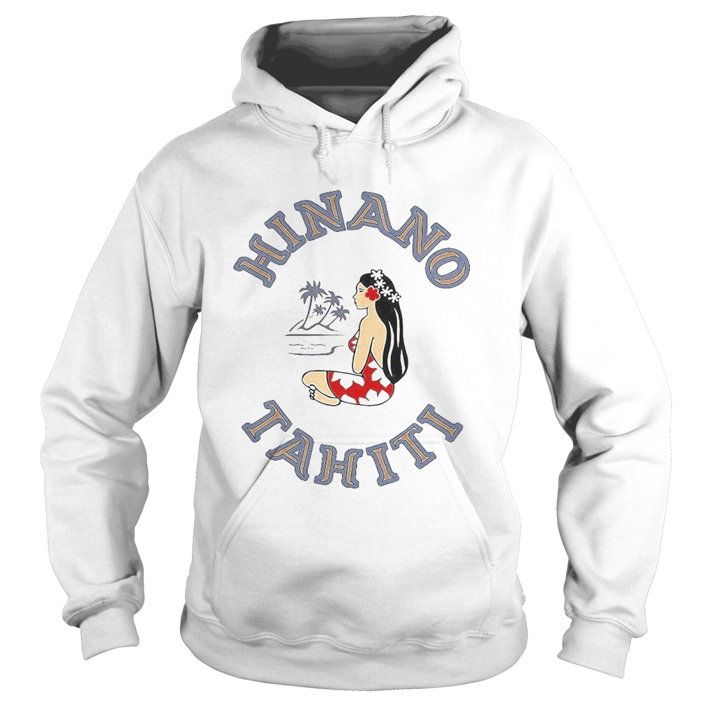 Hinano tahiti girl beach coconut tree  Hoodie
