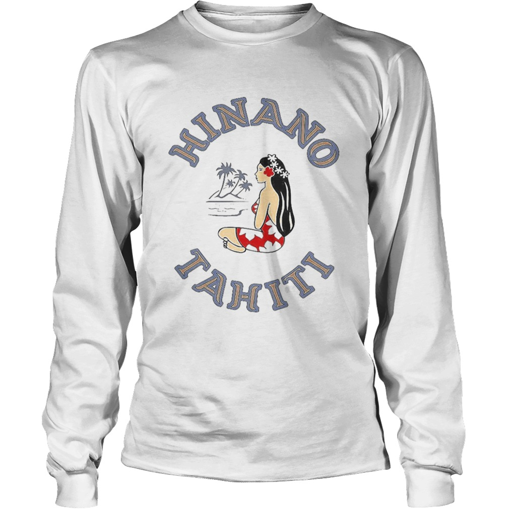 Hinano tahiti girl beach coconut tree  Long Sleeve