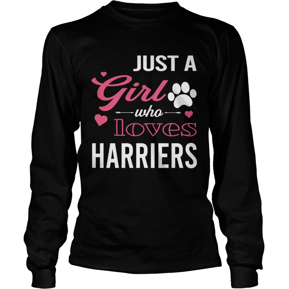 Just A Girl Who Loves HARRIERS Dog Pet  Long Sleeve
